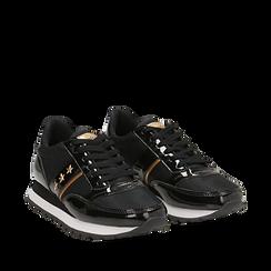 Sneakers nere in vernice, Scarpe, 142619079VENERO036, 002a