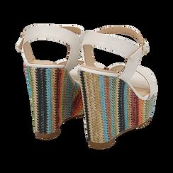 Sandali bianchi, zeppa 12 cm, Scarpe, 154917229EPBIAN040, 004 preview