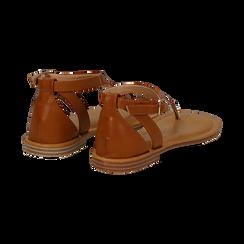 Sandali infradito cuoio in eco-pelle, Saldi Estivi, 134958215EPCUOI036, 004 preview