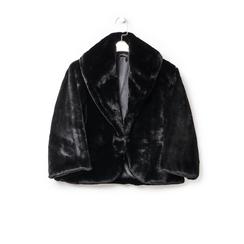 Pelliccia corta nera in eco-fur, Abbigliamento, 14B443008FUNERO3XL, 003 preview