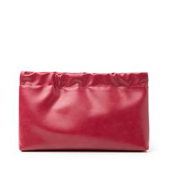 Bustina rossa in eco-pelle, Borse, 145122232EPROSSUNI, 001a