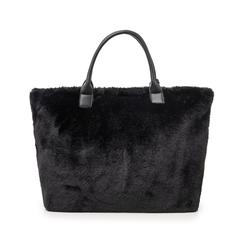 Borsa nera in eco-fur, Borse, 141918831FUNEROUNI, 003 preview