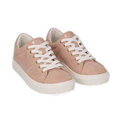 Sneakers nude in microfibra, Scarpe, 152619072MFNUDE035, 002 preview