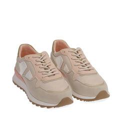 Sneakers beige in tessuto tecnico, Primadonna, 170200002TSBEIG035, 002a