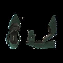 Décolleté verdi in microfibra, tacco 9,50 cm , Scarpe, 144895575MFVERD036, 003 preview