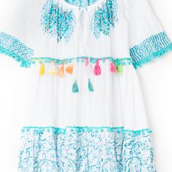 Caftano corto bianco/blu , Primadonna, 130500246TSBIBLUNI, 002a