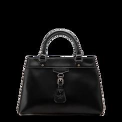 Mini-bag nera in ecopelle, Primadonna, 121818007EPNEROUNI, 001a