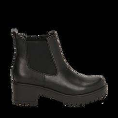 Chelsea boots neri, tacco 6 cm , Primadonna, 162808601EPNERO036, 001a