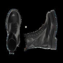 Botas militares de piel en color negro, Primadonna, 167729408PENERO036, 003 preview