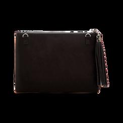 Pochette nera in microfibra, Borse, 123306939MFNEROUNI, 002 preview