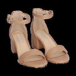 Sandalias en eco-piel color nude, tacón 5,50 cm, 152707031EPNUDE035, 002a