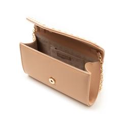 Borsa envelope con borchie nude in eco-pelle, Borse, 133386501EPNUDEUNI, 004 preview