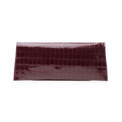 Pochette bordeaux in vernice effetto cocco, Borse, 145122509VEBORDUNI, 003 preview