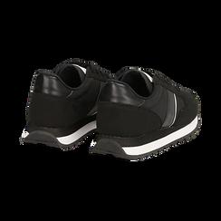 Sneakers nere in tessuto tecnico , Scarpe, 142619079TSNERO036, 004 preview