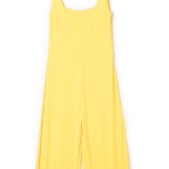 Jumpsuit gialla con bretelline,