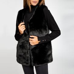 Smanicato eco-fur nero, Abbigliamento, 12B400303FUNERO, 005 preview