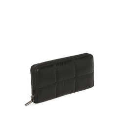 Portafogli nero in tessuto , Primadonna, 165122519TSNEROUNI, 002a
