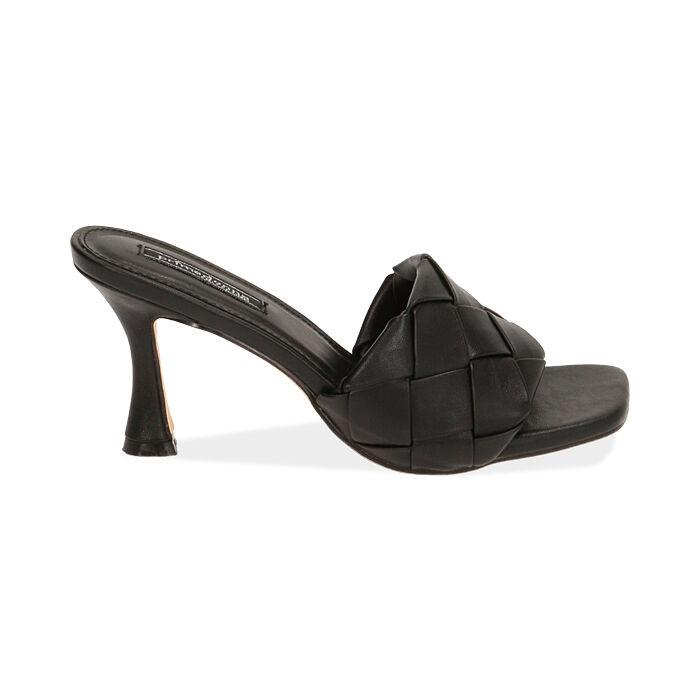 Mules nere, tacco 8 cm , Primadonna, 172791813EPNERO035