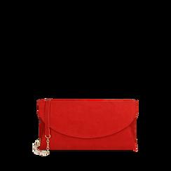 Pochette rojo en microfibra, Bolsos, 165122502MFROSSUNI, 001a