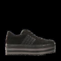 Sneakers nere suola platform multistrato, Primadonna, 122818575MFNERO035, 001a