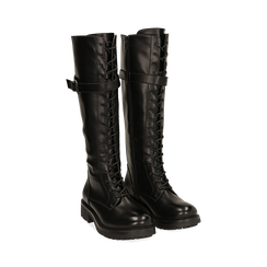 Boots à lacets noirs, Primadonna, 163003608EPNERO037, 002 preview