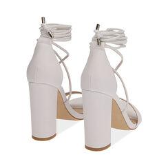 Sandali lace-up bianchi, tacco 10,5 cm , Primadonna, 172760851EPBIAN036, 004 preview