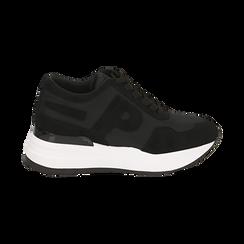 Sneakers nere in tessuto tecnico, suola 5,50 cm , Scarpe, 142898983TSNERO039, 001 preview