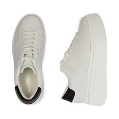 Sneakers bianche, platform 6,5 cm, Primadonna, 177505101EPBIAN037, 003 preview