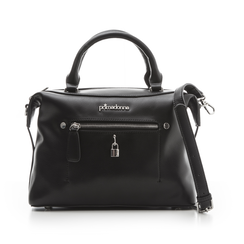 Borsa bauletto nera in eco-pelle, Borse, 131810108EPNEROUNI, 001 preview