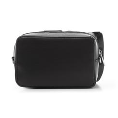 Camera bag nera in eco-pelle con fiocco, Borse, 132300505EPNEROUNI, 003 preview