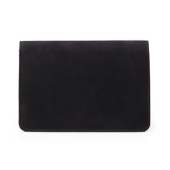 Pochette nera in microfibra, Borse, 145122414MFNEROUNI, 003 preview