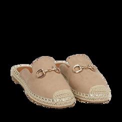 Slippers beige in microfibra, Primadonna, 154951159MFBEIG035, 002a