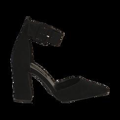 Décolleté nere in microfibra, tacco 9,50 cm , Scarpe, 144895575MFNERO, 001 preview