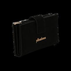 Portafogli nero in microfibra con 25 vani , Borse, 133322158MFNEROUNI, 002 preview