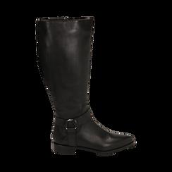Stivali con borchie neri in pelle, Scarpe, 146208902PENERO036, 001 preview