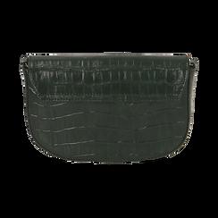 Borsa piccola verde in eco-pelle stampa cocco, Primadonna, 146600202CCVERDUNI, 003 preview