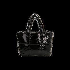 Borsa duvet nera in vernice, Primadonna, 165122545VENEROUNI, 003 preview