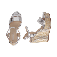 WOMEN SHOES WEDGE EP-CROCO ARGE, Zapatos, 154983292CCARGE036, 003 preview