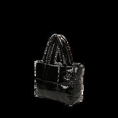 Sac duvet noir en vernis, Primadonna, 165122545VENEROUNI, 002a