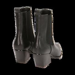 Camperas negras, tacón 7 cm, Zapatos, 170508001EPNERO035, 004 preview