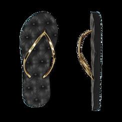 Ciabatte infradito oro in pvc, Zapatos, 15J370785PVOROG036, 003 preview