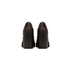 Francesine stringate marroni, tacco 9,5 cm, Scarpe, 129320059EPMARR, 003 preview