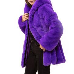 Pelliccia viola in eco fur, Primadonna, 16B420510FUVIOLM, 001a