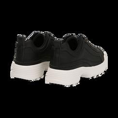 Dad shoes nere in eco-pelle con suola sagomata, Scarpe, 130101201EPNERO036, 004 preview