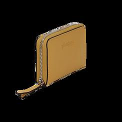 Portafoglio compatto giallo in eco-pelle, Borse, 133731344EPGIALUNI, 002 preview