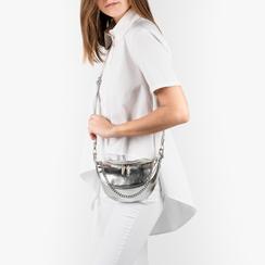 Mini bag argento laminato, Borse, 155122722LMARGEUNI, 002a