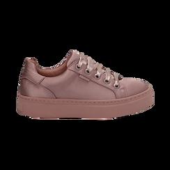 Sneakers nude in tessuto, suola 4 cm  , Scarpe, 142509512TSNUDE035, 001 preview