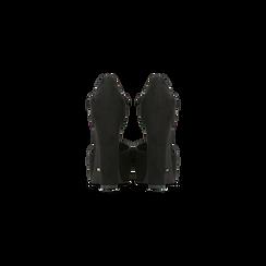 Décolleté nere con plateau e cinturino, tacco 13 cm, Primadonna, 124837912MFNERO, 003 preview