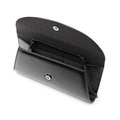 Pochette nera in laminato, Borse, 145122502LMNEROUNI, 004 preview