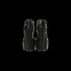 Décolleté Charleston nere, tacco 13,5 cm, Scarpe, 122103012EPNERO, 003 preview